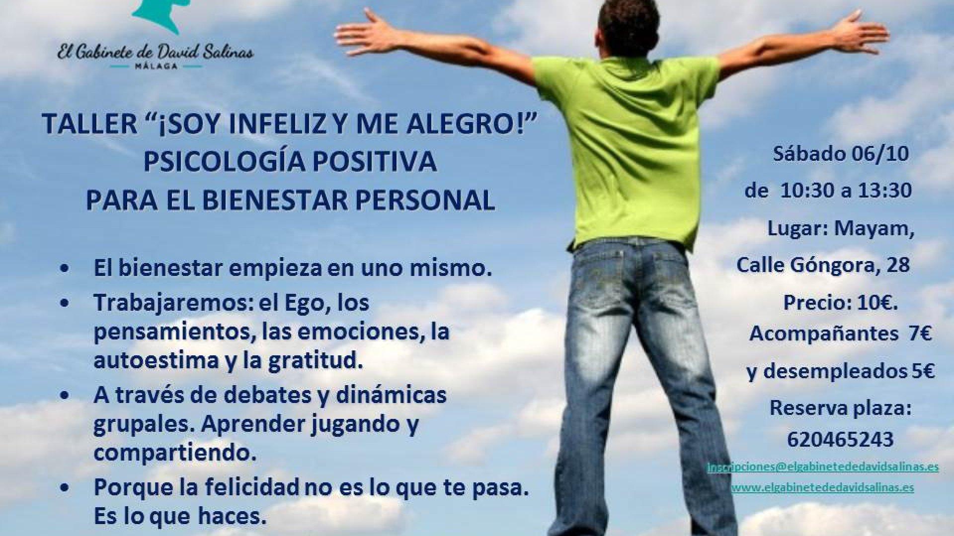 TALLER '¡SOY INFELIZ Y ME ALEGRO!'